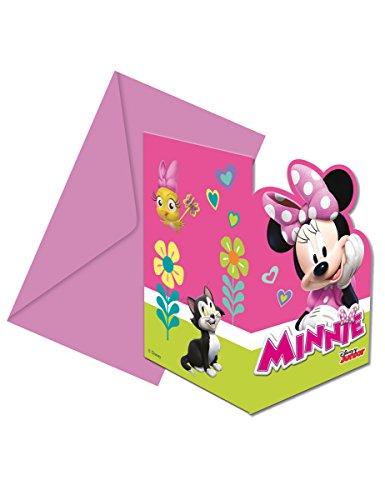 6 Invitations + enveloppes Minnie Happy - taille - Taille Unique - 307255