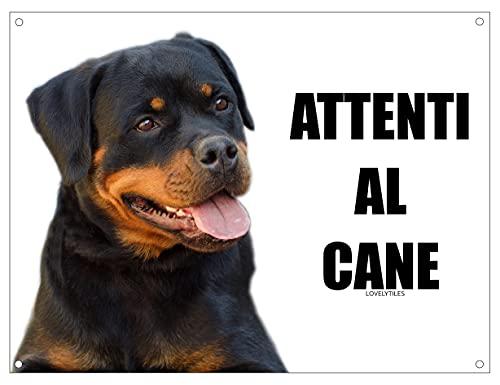 ROTTWEILER attenti al cane mod 3 TARGA cartello IN METALLO (15X20)