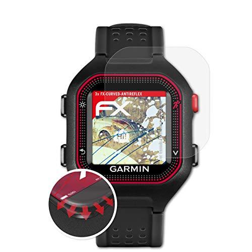 atFoliX Schutzfolie kompatibel mit Garmin Forerunner 25 23 mm Folie, entspiegelnde & Flexible FX Bildschirmschutzfolie (3X)