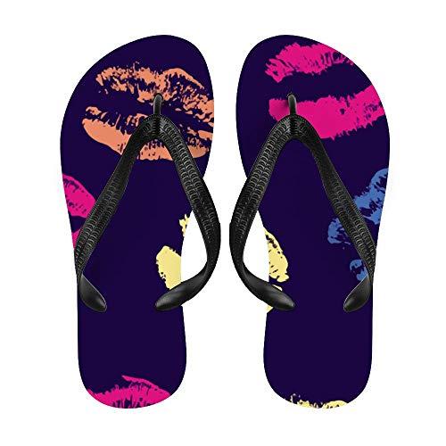 Lippe, sexy, Sonnenbrille, Flip-Flop, Strand-Sommer-Slipper, maßgeschneiderte Hausschuhe für Damen und Herren, High Heels, cool, - Farbe5 - Größe: Medium