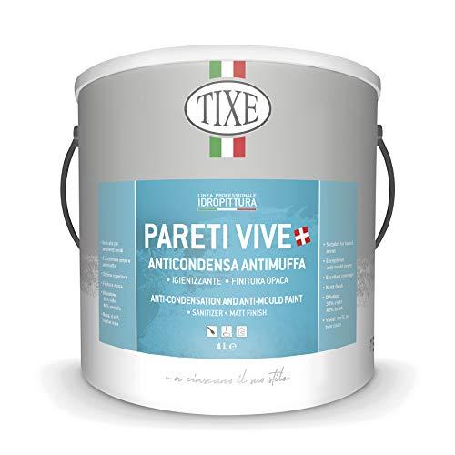 TIXE 651501 651.101 PARETI Vive IDROPITTURA ANTIMUFFA 01 LT, Bianco