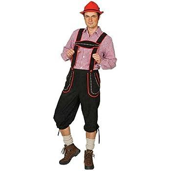 NET TOYS Pantalones Negros de Piel para Traje pantalón bávaro ...