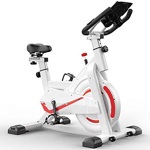 Bicicletas de ejercicio Bicicleta de spinning Indoor Super Mute Fitness Bicicleta estacionaria, Asiento de manillar ajustable de resistencia, Entrenamiento cardiovascular, Carga máxima 150 kg, Blanco