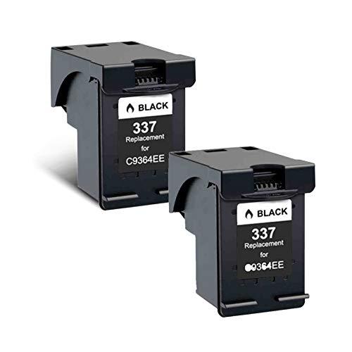 Cartuchos de tinta 337XL, cartucho de reemplazo de 343XL para HP Deskjet 5740 5743 5745 5748 Cartuchos de impresora de tinta compatibles con cuatro colores de cuatro Black