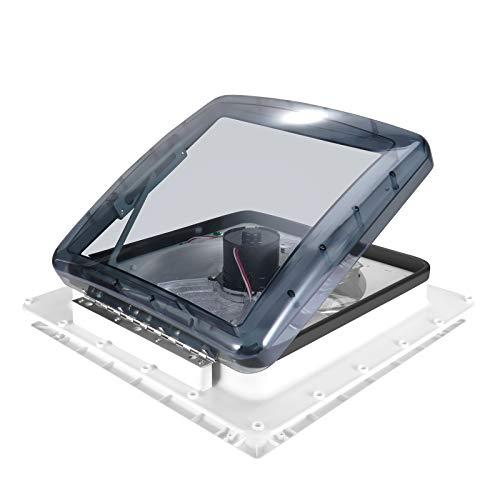 InLoveArts Belüftung für Wohnmobil, 12V Kühler Abluftventilator, Turbo Vent Kurbeldachhaube Polar Control mit Thermostat 40 x 40 für Wohnwagen oder Wohnmobil