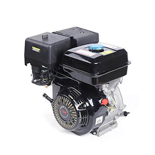 TFCFL 420CC 15HP 4 Stroke Gas Engine, Upthehill Go Kart Gas Engine Manual Recoil Start Engine 4 Stroke OHV Single Cylinder Motor with Air-Cooling Motor (Black)