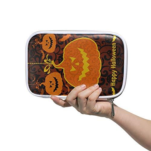 Stationäre Boxen Happy Halloween Gelb Kürbis Stifte Beutel Tasche Stift Beutel Multifunktionale Herren Kosmetik Reisetasche Für Männer Frauen