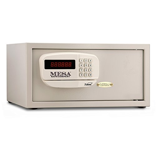 Mesa Safe Company Model MHRC916E Residential and Hotel Electronic Burglary Safe, Cream -