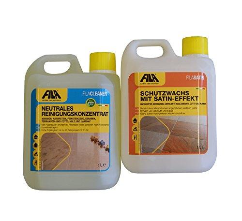 FILA SET 2 REINIGUNG + FINISH: Fila Cleaner Pro 1l + Fila Satin 1l