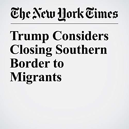 Trump Considers Closing Southern Border to Migrants audiobook cover art