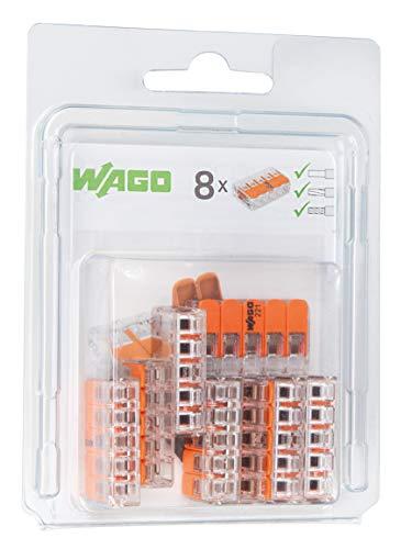 WAGO 221-415/996-008 Compact-Verbindungsklemme, Transparent (8-er Pack)