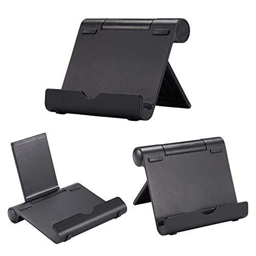 AAA Products - Supporto portatile multi-angolo per tablet, e-reader e smartphone, corpo in alluminio leggero e resistente, compatibilità universale Nero