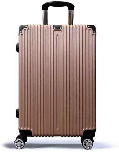 seiyishi スーツケース 軽量 収納 海外旅行 宿泊 荷物 出張 キャリーケース キャリーバッグ トランク SY-LXB-078 (ピンクゴールド)
