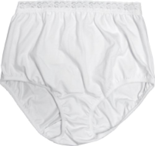 8081204MLEA - OPTIONS Ladies Basic with Built-In Barrier/Support, White, Left-Side Stoma, Small 4-5, Hips 33 - 37