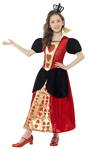 Smiffy's-44458M Disfraz de Miss Hearts, con Vestido y Corona de Fieltro 3D, Color Rojo, Medium (44458M)