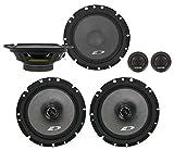 Alpine SXE-1751S 6.5' 280w Component+6.5' 220w 2-Way Car Audio Coaxial Speakers