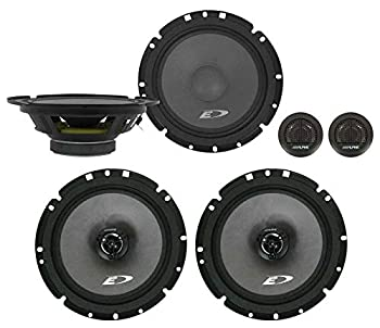 Alpine SXE-1751S 6.5  280w Component+6.5  220w 2-Way Car Audio Coaxial Speakers
