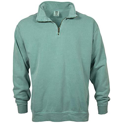 Comfort Colors Men's Adult 1/4 Zip Sweatshirt, Style 1580, Seafoam, Small