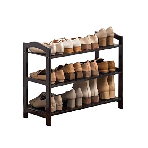 NYKK Zapatero Bamboo Multi-Layer Shoe Rack Simple Rack de Zapatos económico Corredor Baño Almacenamiento Rack for el hogar Armario Zapatero (Color : A, Size : M)