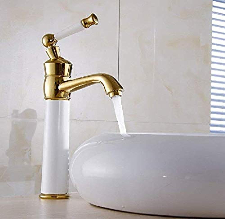 Retro Wasserhahn 360 Grad drehbare Wasserhahn Kupfer Farbe Bad Becken Wasserhahn