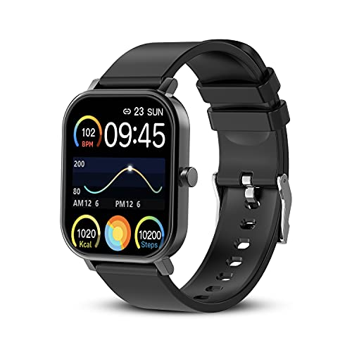 """Fitness Tracker for Men, Smart Watch for Android Phones and iOS, 1.69"""" Full Touch Screen Waterproof Smartwatch, 24 Sports Modes with Heart Rate Monitor, Sleep Tracker, Message Call Reminder, Stopwatch"""