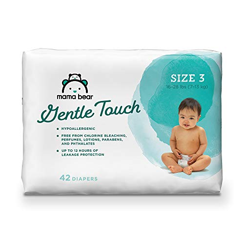 Amazon Brand - Mama Bear Gentle Touch Diapers, Hypoallergenic, Size 3, 42 Count