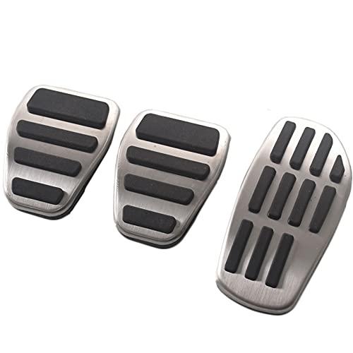 MIOAHD Pedale del poggiapiedi del Freno del Carburante in Acciaio Inossidabile, per Renault Clio Duster Scenic 3 Talisman Megane Espace