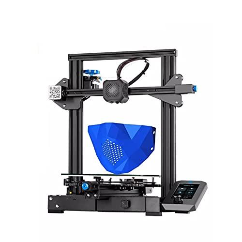 ASPZQ Creality Ender 3 V2 Upgraded DIY 3D Printer Kit Ultra-silent Mainboard, Carborundum Glass Platform, Mean Well Power Supply