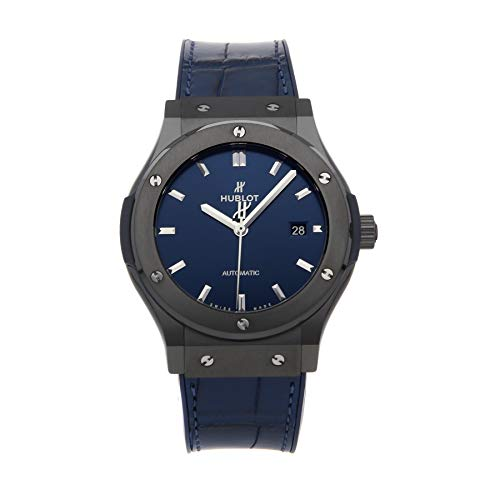 Hublot Classic Fusion - Reloj de pulsera para hombre (cerámica, 42 mm), color azul