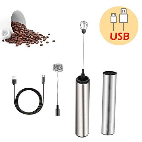 Elektrischer Schneebesen, Milchaufschäumer Handkaffeeschäumer Elektrischer Schneebesen, wiederaufladbarer USB-Schaumbildner Bubbler Egg Beater für heiße Latte Cappuccino-Schokolade