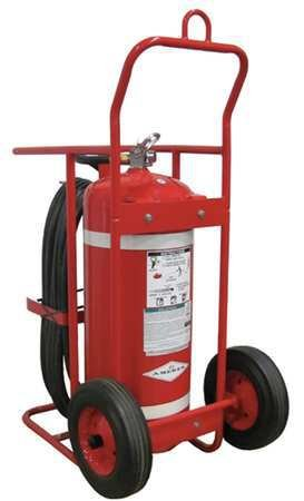 Wheeled Fire Extinguisher, 150 lb., 50 ft