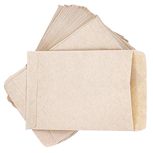 PRUNS 120 PCS Seed Packets Blank Seed Envelopes Empty Seed Paper Bags Bulk for Flowers, Wildflower, Party Favors, Wedding, Vegetables, Sunflower Seed Envelopes (4.7 3.5 Inches)