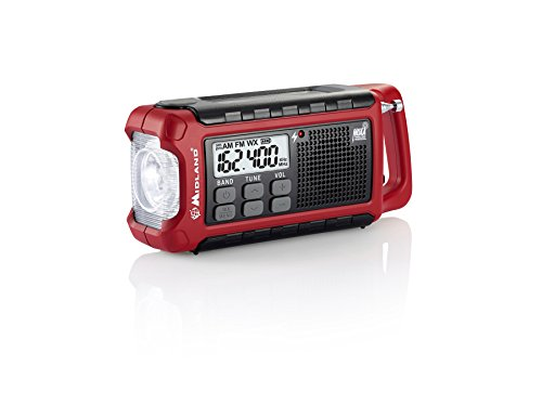 Midland ER200 Emergency AM FM Digital NOAA Weather Radio with Cree LED Flashlight and USB Charger Output