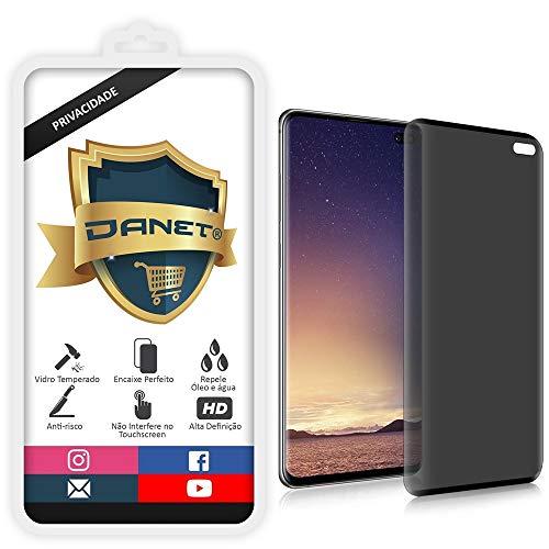 Película De Privacidade Vidro Temperado Para Samsung Galaxy S10 Plus Tela 6.4 Polegadas Proteção Anti Impacto E Curioso Top Spy Premium 3d - Danet