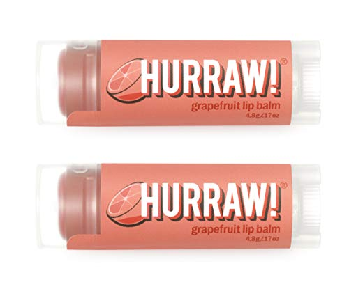 Hurraw Grapefruit Lip Balm, 2 Pack