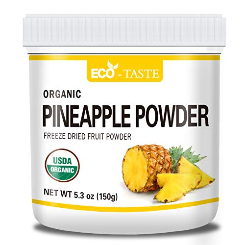 Organic Pineapple Powder, 5.3oz(150g), Pure and Raw, No Additives or Fillers, NO GMO