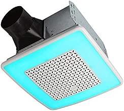 Broan-NuTone AER110RGBL ChromaComfort 110 CFM Ventilation Fan with 24 Color Selectable LED, 1.5 Sones, ENERGY STAR Certified