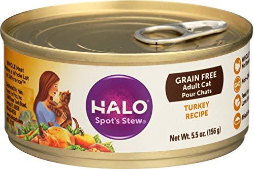 halo wet kitten foods Halo Spot'S Stew Wholesome Turkey Food, 8.25 Lb./5.5 Oz.
