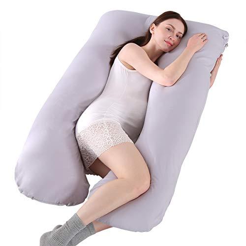 Almohada de maternidad en forma de U, almohada de cuerpo entero, cojín de embarazo para el hogar, almohada de maternidad, soporte para espalda, caderas, piernas y abdomen para mujeres embarazadas
