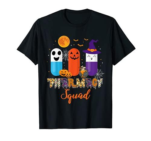 Funny Pills Pharmacy Farmacutico Squad Disfraz de Halloween Camiseta