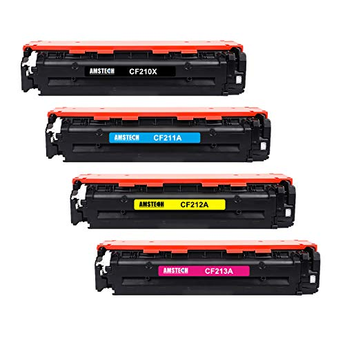 Amstech Remanufactured Toner Cartridge Replacement für HP CF210X 131X CF210A 131A HP131A Toner für HP Laserjet Pro 200 Color MFP M276n M276nw M251n M251nw M276 M251, 128A CE320A 125A CB540A Toner