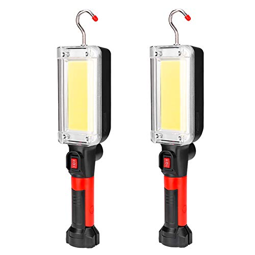 xfyx Linterna LED para Acampar, Recargable o 2 linternas de batería 18650, Kit de Supervivencia para emergencias, Huracanes, tormentas, Cortes de energía
