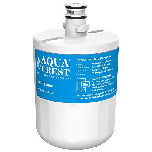 AQUA CREST ADQ72910901 Filtro de Agua del Refrigerador, Compatible con ADQ72910901, ADQ72910902, LG LT500P, 5231JA2002A, GEN11042FR-08, GEN11042F-08 (1)