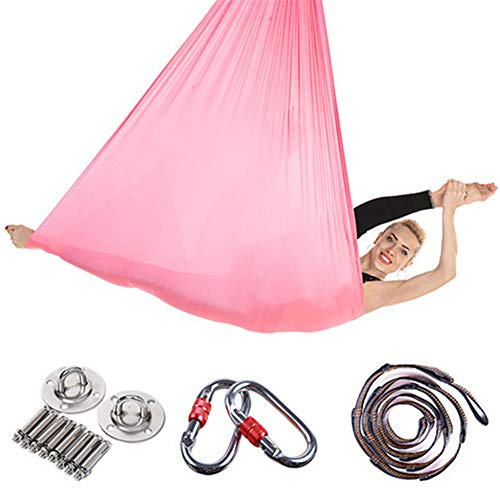 Great Deal! XIONGGG Yoga Hammock Kit Aerial Yoga Swing Set for Air Yoga Inversion Exercises, 5M X 2....