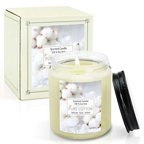 LA BELLEFÉE Velas Arománticas Grande Perfumadas con Aroma Algodón Aromaterapia Cera de Soja Set de Regalos aliviar el estrés y relajación con aromaterapia.