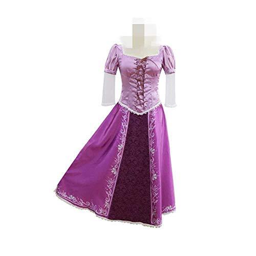 Disfraz de padre-hijo de cosplay disfraces de adultos para niños vestido Rapunzel uniforme Enredado disfraz de Halloween Carnaval Regalo para niñas y mujeres