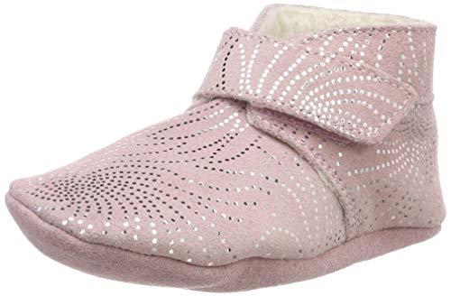 Robeez Baby Mädchen Pole Nord Flache Hausschuhe, Pink (Rose 13), 27 EU