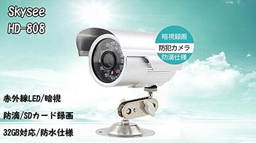 助言する発疹毎月防犯カメラ USB給電 DVRレコーダー不要 防水仕様/SDカード録画/赤外線LED/暗視/32GB対応/夜間撮影 DH808