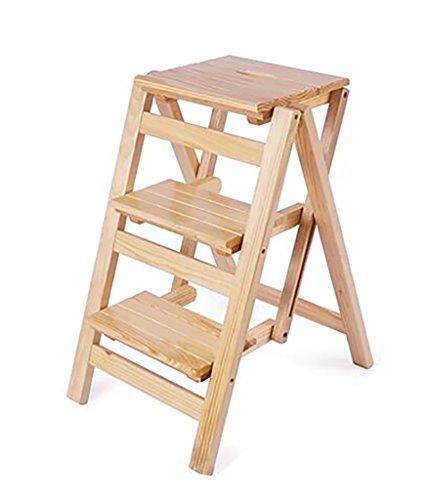 IAIZI opstapkruk klap 3 dieren houten ladder draagbare trapladder stoel bank zitje bloem stand Utility Home keuken, hout kleur