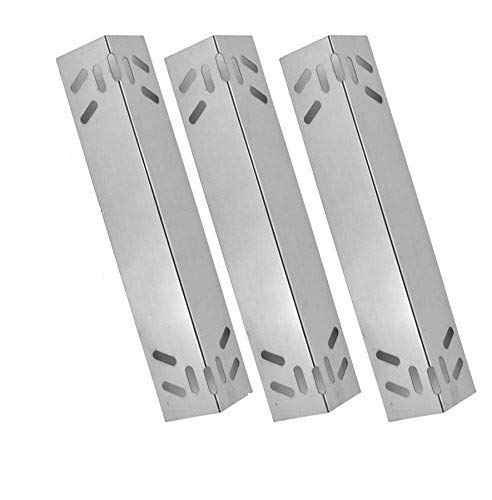 3 Pack Replacement Stainless Steel Heat Shield for Kmart 640-784047-110, Kenmore 119.16434010, 119.16658010, 119.16658011, 119.16676800, 119.17676800, B10SR8-A1, 119.16144210 Gas Grill Models Grill Heat Plates